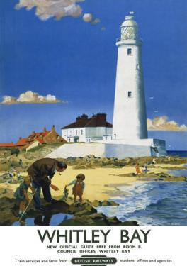 Whitley Bay Lighthouse by F Donald Blake