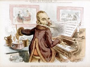 Leo Tolstoy Caricature by F Graetz