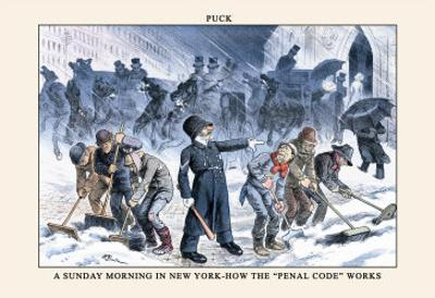 Puck Magazine: A Sunday Morning in New York