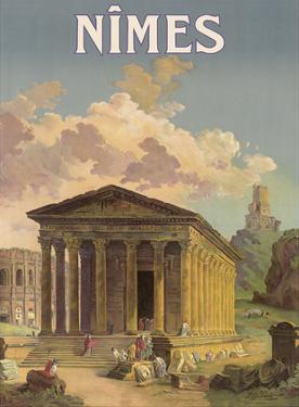 Nîmes, France - Maison Carrée Roman Temple by F. Granès