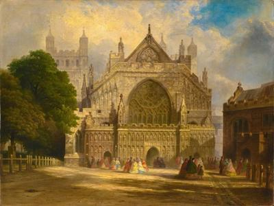 The West Front of Exeter Cathedral, C.1860 by F. J. Corri