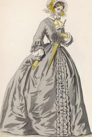 1882 Depiction of 1840s Fashions by F. Lix