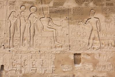 Hieroglyphs, Karnak Temple, Luxor, Egypt by F. Lukasseck