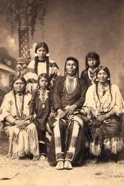 Chief Joseph and Family Members, Circa 1877 by F.M. Sargent