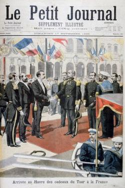 Arrival in Le Havre of the Gifts of the Tsar in France, 1895 by F Meaulle