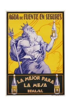 Auga De Fuente En Segures Bottled Water Poster by F. Mellado