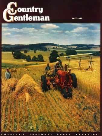 """""""Wheat Harvest,"""" Country Gentleman Cover, July 1, 1945"""