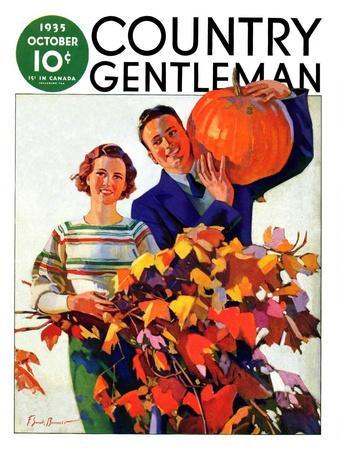 """""""Couple in Fall,"""" Country Gentleman Cover, October 1, 1935"""