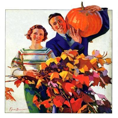 """""""Couple in Fall,""""October 1, 1935"""