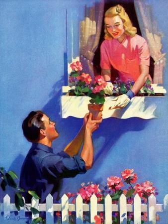 """Planting the Windowbox,""May 1, 1939"