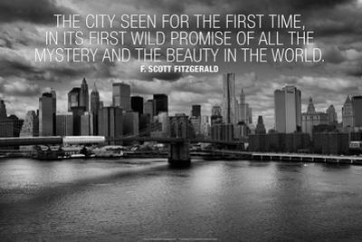 F. Scott Fitzgerald New York Quote Plastic Sign