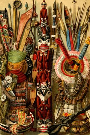 Native American Ornaments and Weapons by F.W. Kuhnert
