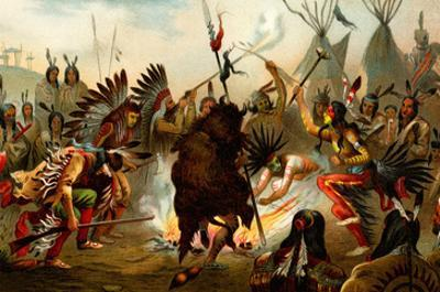 Native American Sioux Dance by F.W. Kuhnert