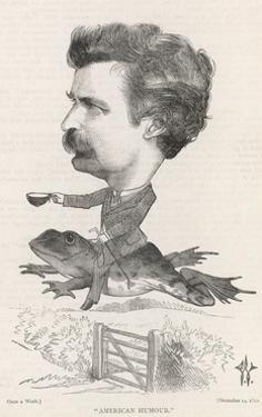 Mark Twain, Riding Frog by F. Waddy
