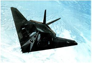 F117-A Stealth Fighter (In Air) Art Poster Print