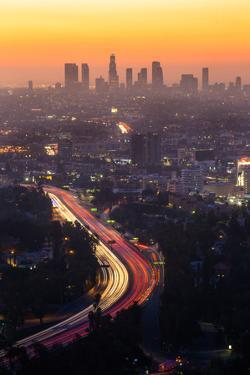 Downtown Los Angeles Skyline at Twilight Ca. by f11photo