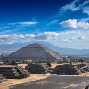 Pyramid of the Sun. Teotihuacan. Mexico. View from the Pyramid of the Moon. by f9photos