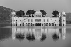 Rajasthan Landmark - Jal Mahal (Water Palace) on Man Sagar Lake on Sunset. Jaipur, Rajasthan, India by f9photos