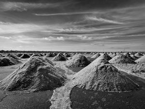 Salt Mine at Sambhar Lake, Sambhar, Rajasthan, India. Black and White Version by f9photos