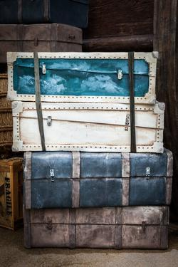 Vintage Luggage Crates, Boxes, Suitcases by f9photos