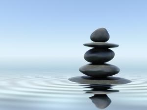 Zen Stones In Water by f9photos