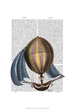 AirShip with Blue Sails by Fab Funky