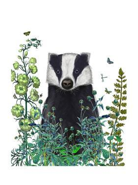 Badger In The Garden by Fab Funky