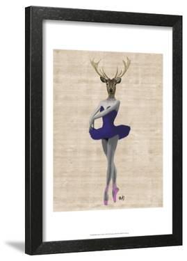 Ballet Deer in Blue by Fab Funky