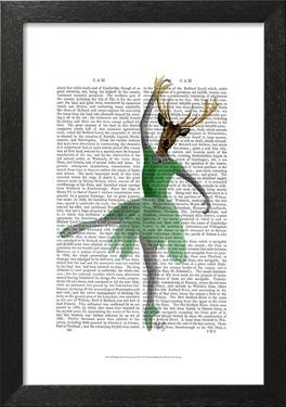 Ballet Deer in Green by Fab Funky
