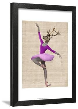 Ballet Deer in Pink by Fab Funky