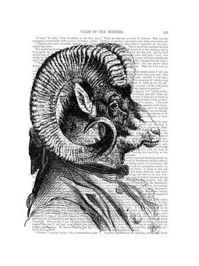 Bighorn Sheep In Suit by Fab Funky