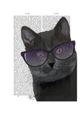 Black Cat with Sunglasses by Fab Funky