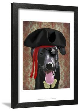 Black Labrador Pirate Dog by Fab Funky