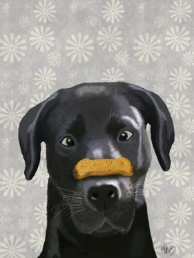 Black Labrador With Bone on Nose by Fab Funky