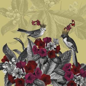 Blooming Birds, Azalea, Fine Art Print by Fab Funky