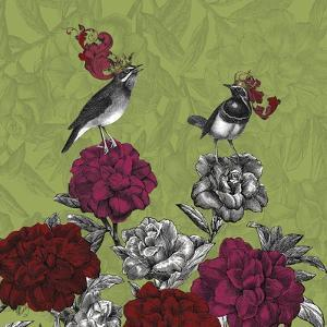 Blooming Birds, Rhododendron, Fine Art Print by Fab Funky