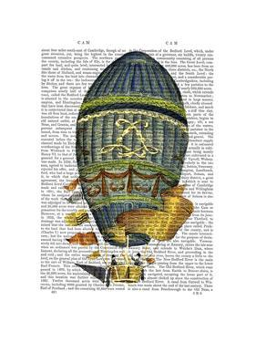 Blue Cylindrical Hot Air Balloon by Fab Funky