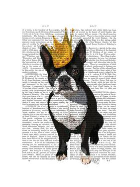 Boston Terrier and Crown by Fab Funky