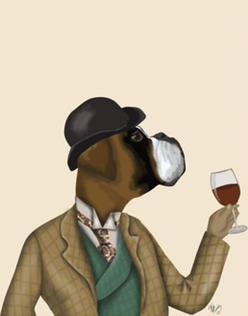 Boxer Wine Snob by Fab Funky