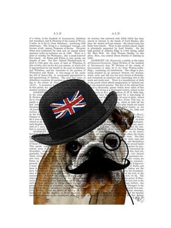 British Bulldog and Bowler Hat by Fab Funky