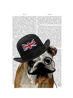 British Bulldog and Bowler Hat by Fab Funky