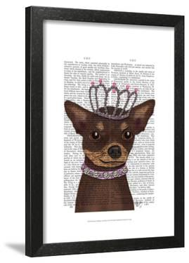 Brown Chihuahua And Tiara by Fab Funky