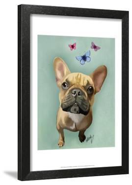 Brown French Bulldog and Butterflies by Fab Funky