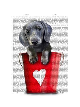 Buckets of Love Dachshund Puppy by Fab Funky