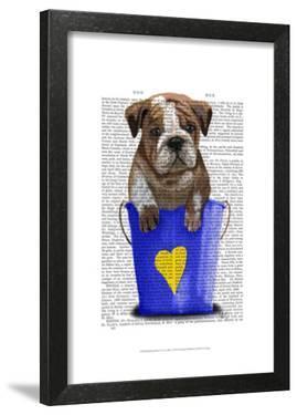 Bulldog Bucket Of Love Blue by Fab Funky
