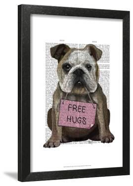 Bulldog Free Hugs by Fab Funky