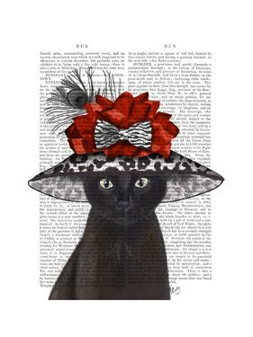 Cat, Black with Fabulous Hat by Fab Funky