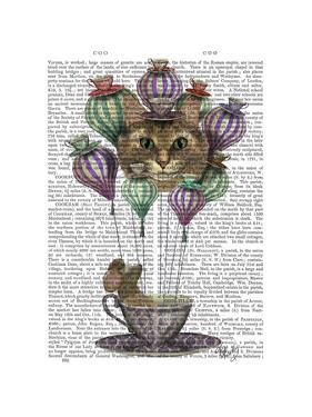 Cheshire Cat Hot Air Balloon by Fab Funky