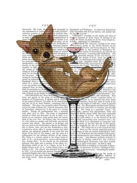Chihuahua in Cocktail Glass by Fab Funky