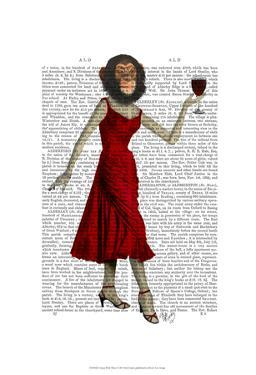 Chimp With Wine by Fab Funky